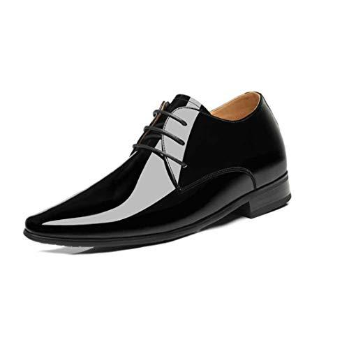 Zapatos de Vestir para Hombres Zapatos de Charol Impermeables con Cordones Punta...