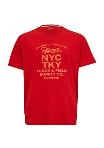 s.Oliver Big Size Herren 131.10.004.12.130.2042581 T-Shirt, 3185 Marker red, XXL