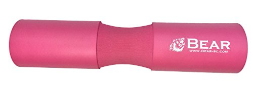 BEAR STRENGTH & CONDITIONING Next Gen. Barbell Squat Pad- Exercise Barbell Pad for Hip Thrusts, Squats and Lunges- Most Comfortable Squat Sponge … (Pink)