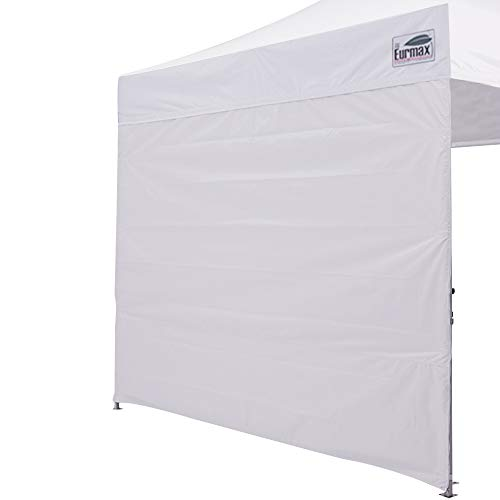 Eurmax Instant Sidewall for 10x10 Pop up Canopy, 1 Pack Only (White)