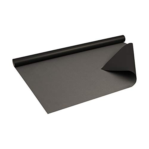 Geschenkpapier Schwarz und Grau, Kraftpapier, gerippt, 60 g/m², Geburtstagspapier, Weihnachtspapier - 1 Rolle 0,8 x 10 m