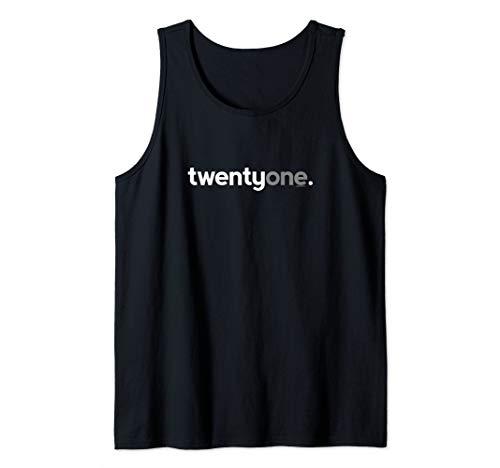 21st Birthday Gift Ideas for Him Men Twentyone 21 Year Old Tank Top