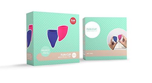FUN FACTORY FUN CUP EXPLORE KIT – Zwei Menstruationstassen für starke und schwache Blutung inkl. Tasche - 6