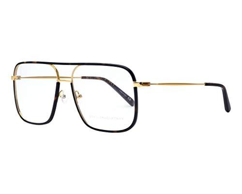 Occhiali Da Vista Stella McCartney Modello SC0124O, Colore 002, Montatura In Metallo Color Oro E Havana Scura E Con Naselli, Stile Unisex