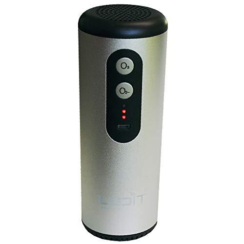 Desinfectante Ozono para coche, diseñado en Italia, con certificado CE, doble función con iones negativos (aniones), pequeño purificador portátil, generador de ozono para coche con micro USB