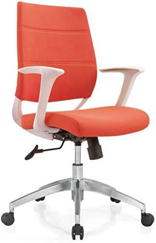 LTHDD Silla de computadora de la casa del hogar, Silla ergonómica de Levantamiento rotativo de la Escritura Plegable, Beige, Naranja, Color Nombre: Púrpura (Color : Orange)