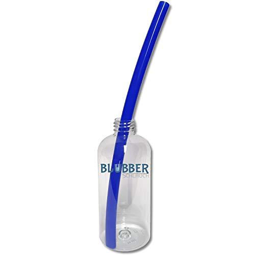 Blubberschlauch Silikonschlauch für die Stimmtherapie und das Stimmtraining, 1 Stück, hochwertiger 10x14mm Logopädie Schlauch aus platinvernetzte Silikon, BLAU