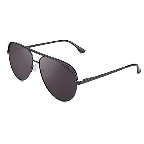 CLANDESTINE Panorama Black - Gafas de Sol Nylon HD Hombre & Mujer