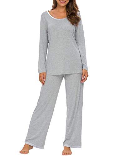 TIKTIK Womens Pajama Set Long Sleeve Sleepwear...