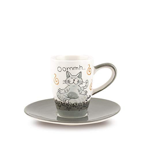 Mila Keramik Espresso-Tasse mit Untere, Oommh Katze Pure | MI-88402 | 4045303884021