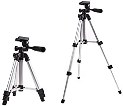 Katstore 3110 Adjustable, Portable and Foldable Tripod Stand for DSLR Camera and Smartphones, Aluminum Body (with Bag), 50...
