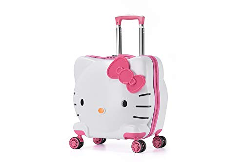 MOREFUN Girls 20 Inch Carry on Luggage Hardside Rolling Suitcase Spinner Wheels (Pink)