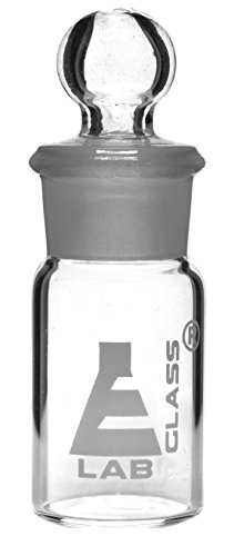 Weighing Bottle, Tall Form, 5ml Capacity, Borosilicate Glass with Interchangeable Ground Stopper - Eisco Labs