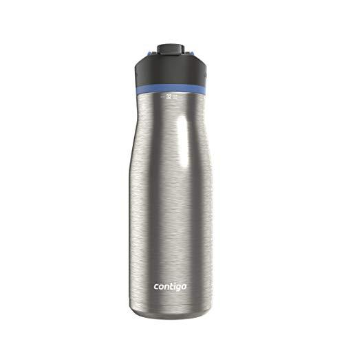 Contigo AUTOSEAL Water Bottle, 32oz, Blue Corn Lid