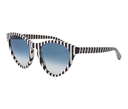 Gucci Unisex – Erwachsene GG0569S-004-54 Sonnenbrille, Schwarz-Weiß, 54
