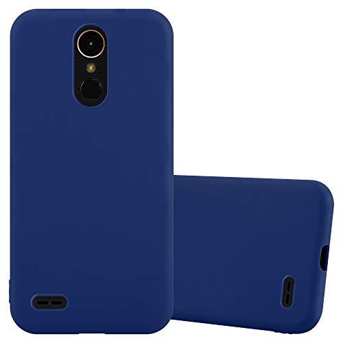 Cadorabo Funda para LG K10 2017 en Candy Azul Oscuro - Cubierta Proteccíon de Silicona TPU Delgada e Flexible con Antichoque - Gel Case Cover Carcasa Ligera