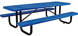 8' Rectangular Picnic Table, Perforated, Blue (96