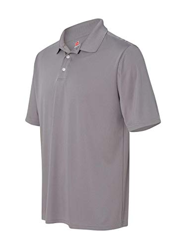 Hanes Sport Men's Cool DRI Men's Performance Polo,Graphite,X-Large