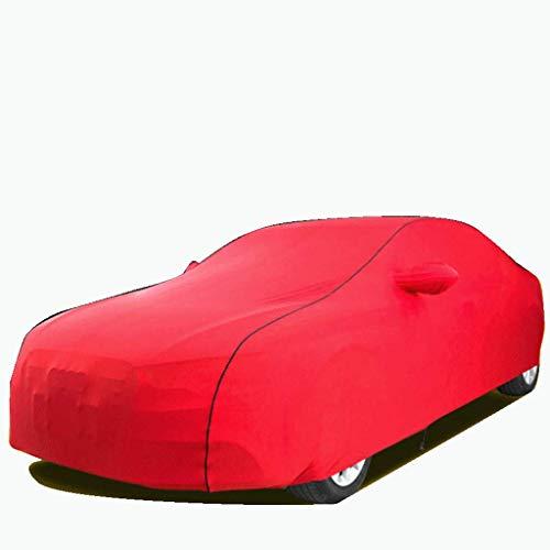 JLZS-Car Covers Auto-Abdeckung ist mit BMW X1 X3 X4 X5 X6 Auto-Abdeckungs-Polyester-Ausdehnungs-Stoff-elastischer Sonnenschutz-Frostschutzmittel-Auto-Abdeckung kompatibel (Color : Red, Size : X5)