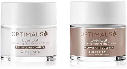 ORIFLAME Optimals Even Out Crema Giorno SPF20 + Crema Notte Set !