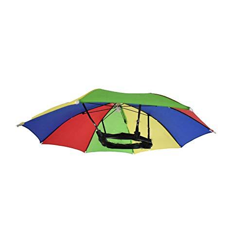 Regenschirm-Kappe in leuchtenden Farben, faltbar, Regenbogen, wasserdicht, für Angeln, Sonne und...