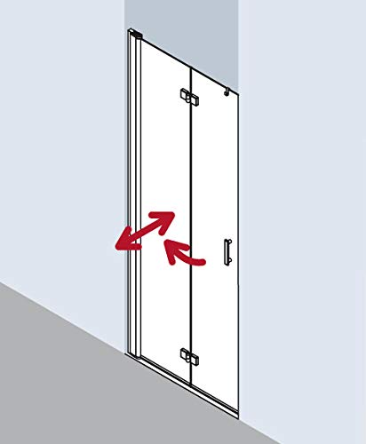 Kermi Puerta Plegable Diga 2DL 08020, Color: Vidrio Blanco Transparente - DI2DL080202AK: Amazon.es: Hogar