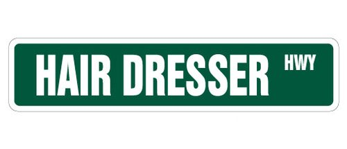 [SignJoker] HAIR DRESSER Street Sign stylist beauty salon gift novelty street sign Wall Plaque Decoration