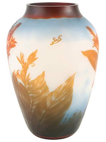 aubaho Vase Replika nach Galle Gallé Glasvase Glas Antik-Jugendstil-Stil Kopie c7
