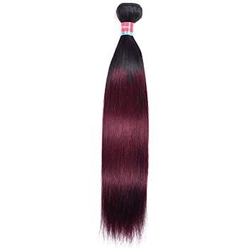 Puromi 1 Bundle Staright Hair T1B/99J Ombre Brazilian Virgin hair 9A Grade Human Hair Weave 2 Ton Burgundy Hair Weft