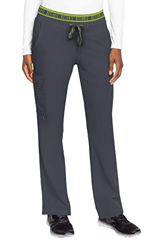 Med Couture Women's Activate Flow Yoga Two Pocket Cargo Pant, Pewter, X-Small
