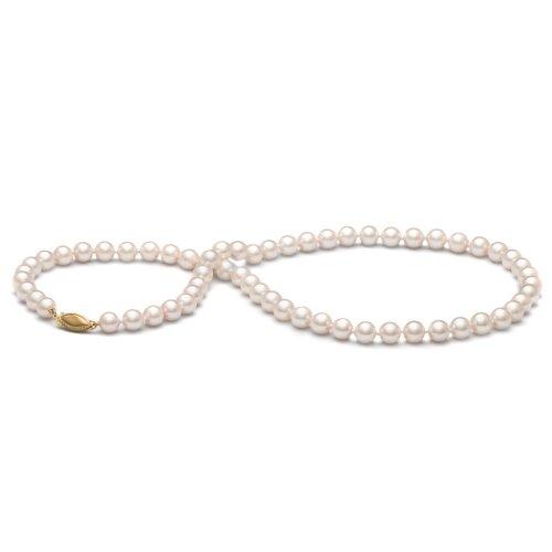 Pearl Paradise da Donna in Oro Bianco 14K Collana di Perle d' Acqua Dolce 6.5–7.0mm