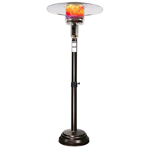 XIUYU Tischplatte der Tabletop-Methan-Gas-Terrassenheizung Edelstahl, einstellbare Höhe, mit Rädern zum Bewegen, wasserdicht, im Freien oder in Innenräumen