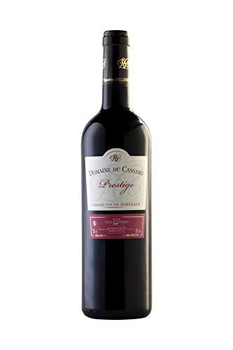Vino tinto-Bordeaux vino Prestige-Domaine du Cassard-Medalla de oro en el concurso Terre de Vin 2019-1 botella (750ml)