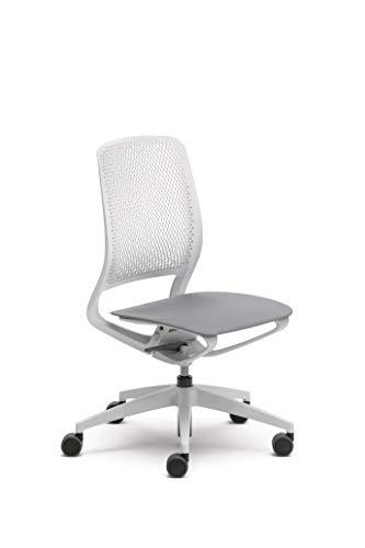 Sedus se:motion, Bürostuhl, Drehstuhl, lichtgrau/weiß, Kunststoff, 950 - 1065 mm