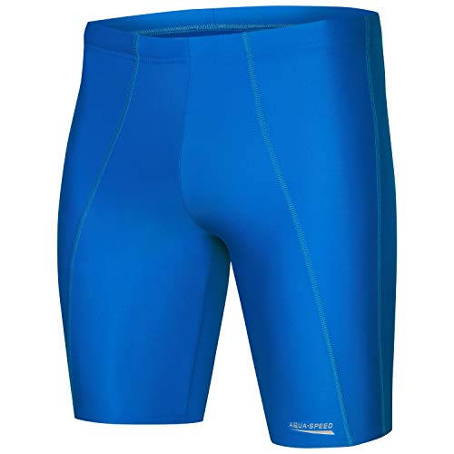 Aqua Speed Badehose eng für Herren + gratis eBook | Jammer | Schwimmhose Knielang | Sport Swimming Trunks for Boys | Long, Gr. M, 05. Longbay