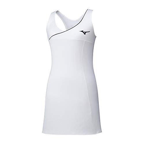 Mizuno Amplify Dress, Vestito Donna, Bianco, L