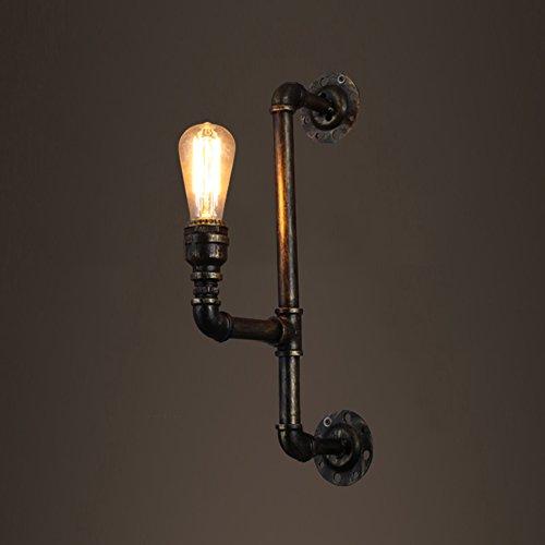 ZWL Lampe murale en tuyau d'eau, rétro rétro Industrie E27 Bâtiment de bureau Restaurant Magasin de vêtements créatifs Lampes décoratives Clubhouse Club Art Lighting Bar Engineering Lights 45 * 19CM mode ( taille : 45*19CM )