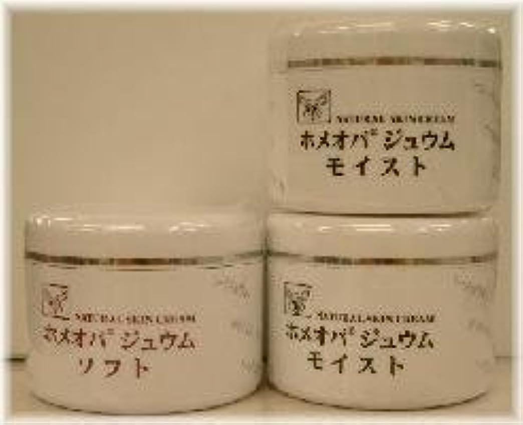 困惑した文化温かいホメオパジュウム スキンケア商品3点 ¥10500クリームモイスト2個+クリームソフト