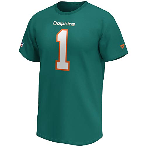 Fanatics NFL T-Shirt Miami Dolphins Tua Tagovailoa #1 Iconic Name & Number Trikot Jersey (L)