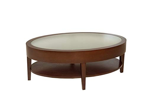 "Empire Oval Coffee Table - 42"" X 25"" Luna Cherry"