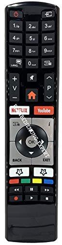 BELIFE Telecomando di ricambio adatto per televisori Vestel Finlux Telefunken Edenwood RC4318 30100823 4K Ultra HD con bottoni Netflix YouTube