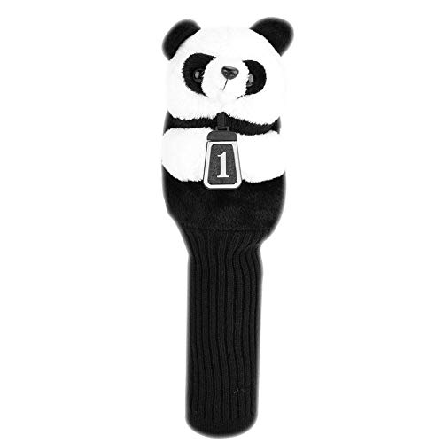 VGEBY1 Golf Head Cover, Golf Club Cover Panda Simple Protect Convenient Cartoon Animal Lovely Head Cover Accessories(Panda)