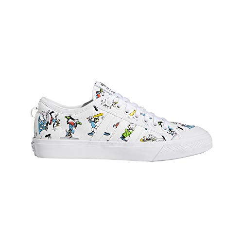 adidas Originals Mens Nizza X Disney Sport Goofy Sneaker, Footwear White/Scarlet/Core Black