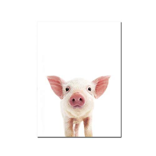 LiMengQi2 Cuadro sobre Lienzo para Pared Carteles nórdicos e Impresiones Mosaico para Pared de Animales y bebés decoración de la habitación (No Frame)