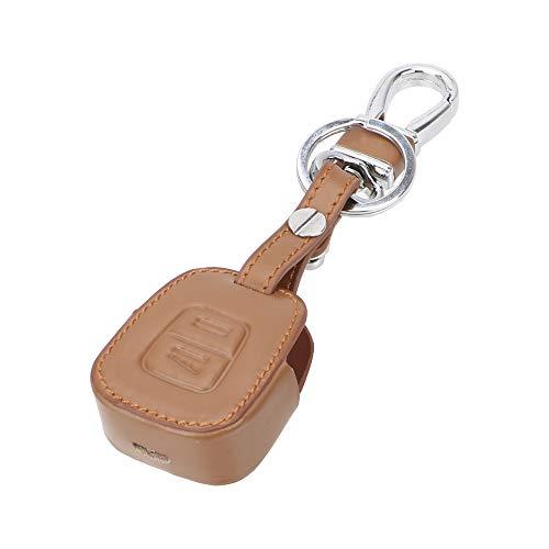 Funda de piel para llave de coche de NOPNOG, para Opel Corsa Astra Tigra Vectra Zafira (marrón)