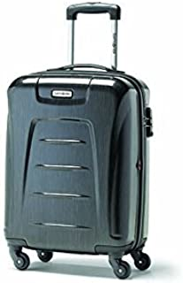 d8783fd38 Samsonite Winfield 3 Fashion Spinner Widebody Carry-On, Charcoal (Brushed),  International