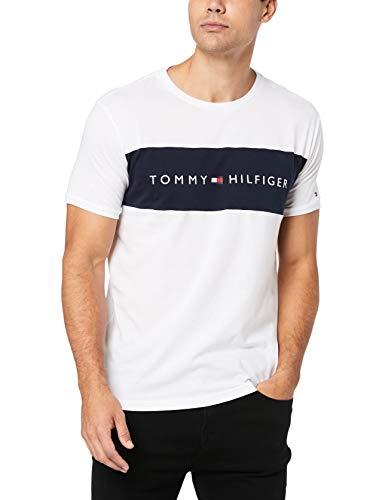 Tommy Hilfiger Shirt Herren, weiß - marine, L