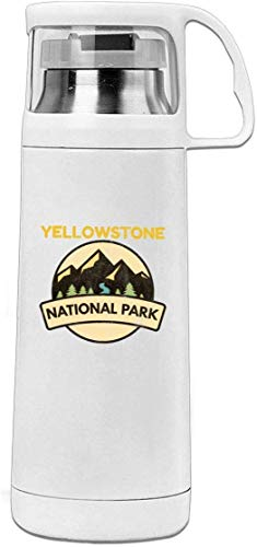 Bestqe Vakuumisolierte Trinkflasche,Wasserflasche, Yellowstone National Park 11.8oz Travel Vacuum Insulated Water Cover Cup Stainless Steel Thermos Cup