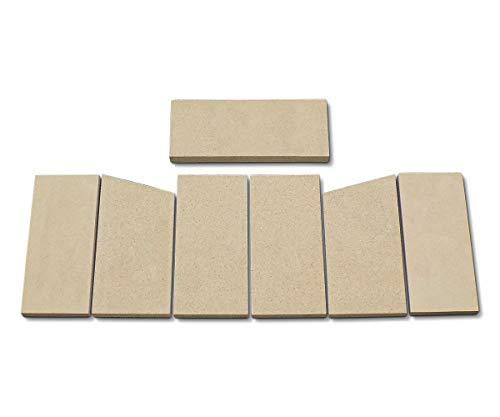 Feuerraumauskleidung für Hark 25 Kaminöfen - Vermiculite - 7-teilig