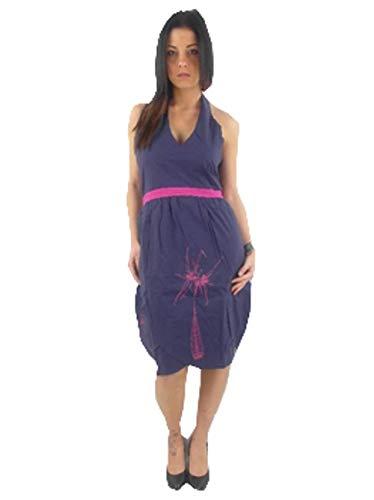 Skunkfunk Kleid Sommerkleid NABARRA LILA Neckholder SKV11V286KC - Nabarra (M)